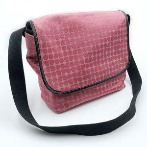 Kate Spade Pink Dot Noel Messenger Bag Diaper Tote
